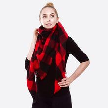 Load image into Gallery viewer, Buffalo Check Blanket Scarf - Harp & Sole Boutique