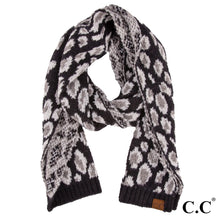 Load image into Gallery viewer, Leopard Jacquard Knit Scarf - Harp & Sole Boutique