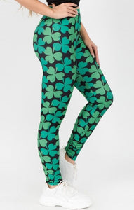 Lucky Shamrock Leggings - Harp & Sole Boutique