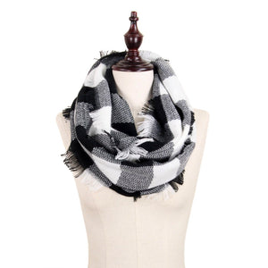 Buffalo Check Infinity Scarf - Harp & Sole Boutique