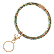 Load image into Gallery viewer, Glitter Filled Bracelet Keyring - Harp & Sole Boutique