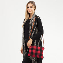 Load image into Gallery viewer, Buffalo Check Crossbody/ Clutch Bag and Smart Touch Gloves Gift Set - Harp & Sole Boutique