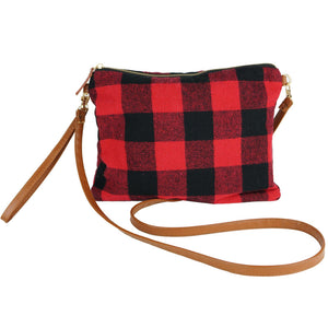 Buffalo Check Crossbody/ Clutch Bag and Smart Touch Gloves Gift Set - Harp & Sole Boutique