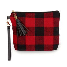 Load image into Gallery viewer, Buffalo Check Pouch Wristlet - Harp & Sole Boutique