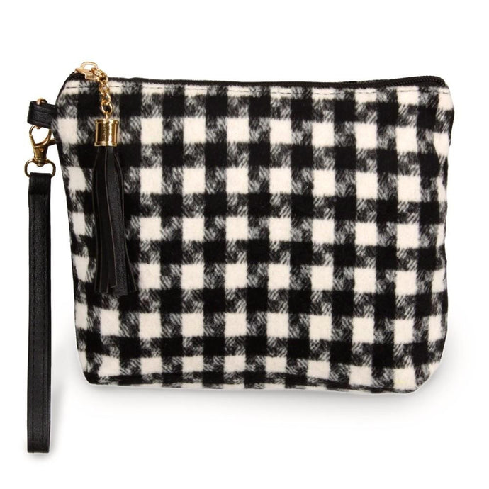 Houndstooth Pouch Wristlet - Harp & Sole Boutique