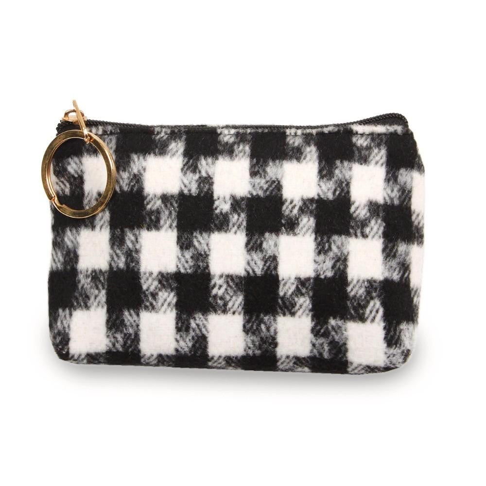Houndstooth Coin/Card Pouch - Harp & Sole Boutique