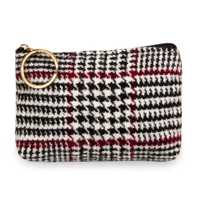 Glen Check Coin/Card Pouch