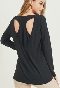 Black Racerback Knit Top