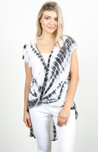 Load image into Gallery viewer, Black & White Tie Dye Crochet Back Top - Harp & Sole Boutique
