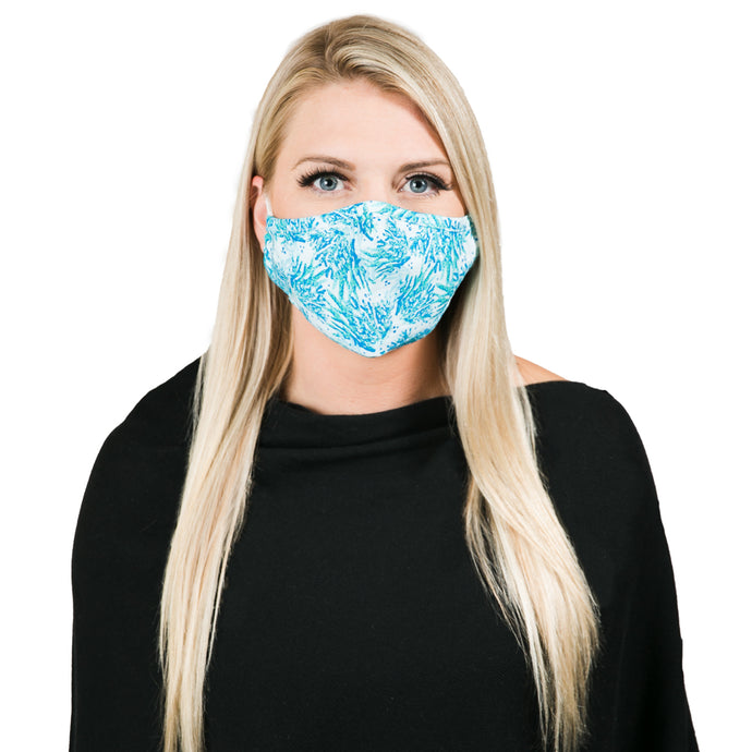 Blue Coral Reef Face Mask