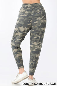 Dusty Camo Drawstring Joggers with Pockets