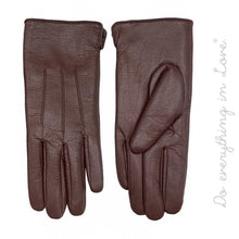 Load image into Gallery viewer, Faux Leather Smart Touch Gloves