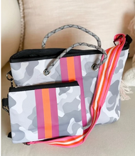 Load image into Gallery viewer, Gray Camo Hamptons Crossbody