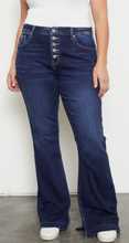 Load image into Gallery viewer, Mid Rise Button Fly Flare Jeans