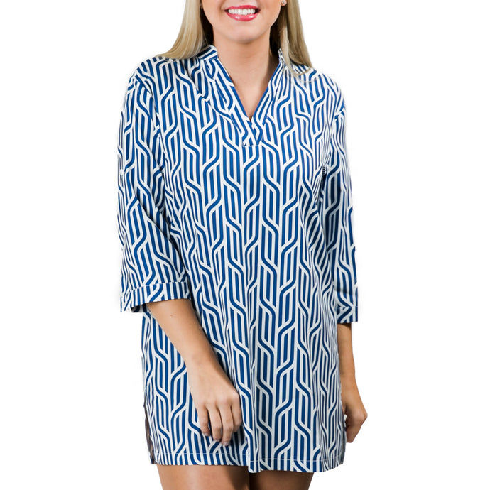 Navy Nautical Braid Tunic