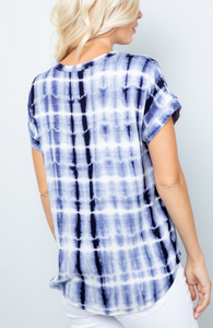 Perfect Navy Tie Dye Short Sleeve Top - Harp & Sole Boutique