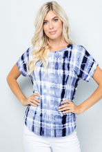 Load image into Gallery viewer, Perfect Navy Tie Dye Short Sleeve Top - Harp & Sole Boutique
