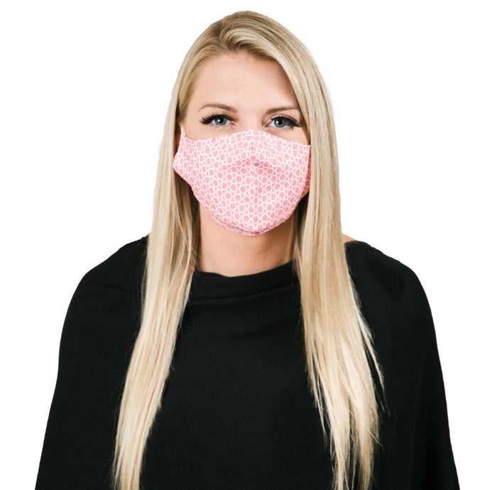 Pink Mosaic Face Mask