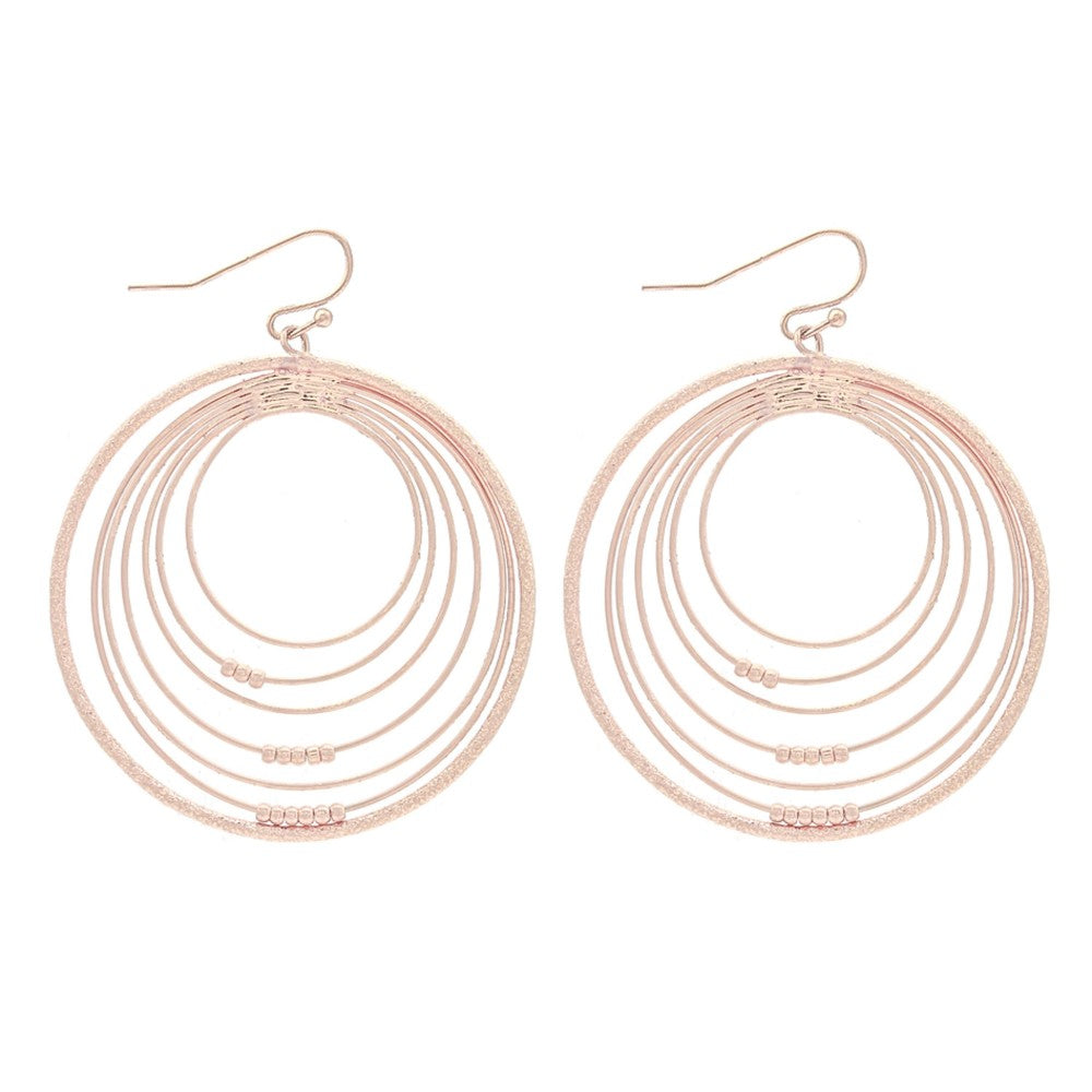 Rose Gold Multi Hoop Earrings