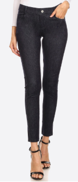 Dark Wash Midrise Jeggings - Harp & Sole Boutique