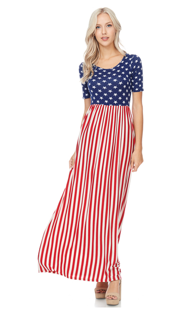 Stars & Stripes Maxi Dress - Harp & Sole Boutique
