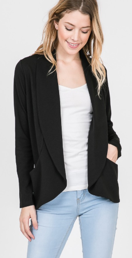 Black Jacket with Pockets - Harp & Sole Boutique