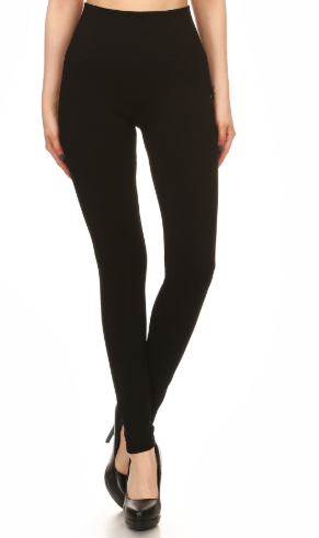 Black Body Shaping High Waisted Leggings - Harp & Sole Boutique