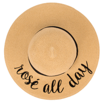 Embroidered Wide Brim Floppy Beach Hat - Harp & Sole Boutique