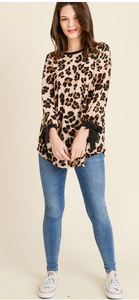 Leopard Print Bell Sleeve Knit Top - Harp & Sole Boutique