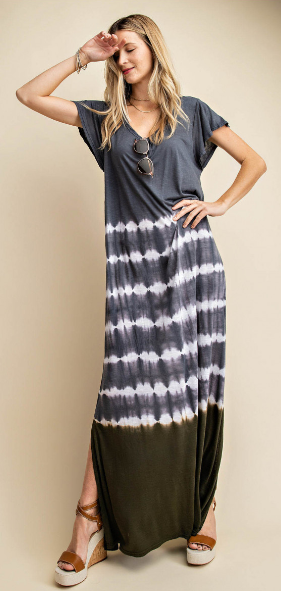 Navy Tie Dye Maxi Dress - Harp & Sole Boutique