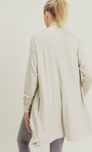 Load image into Gallery viewer, Natural Longline Open Front Cardigan - Harp & Sole Boutique