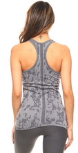 Load image into Gallery viewer, Charcoal Splatter Print Seamless Racerback Tank - Harp & Sole Boutique
