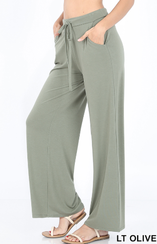 Light Olive Drawstring Lounge Pants - Harp & Sole Boutique