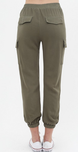 Olive Cargo Crop Joggers - Harp & Sole Boutique