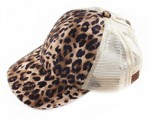 Load image into Gallery viewer, Leopard Print Ponytail Cap - Harp & Sole Boutique