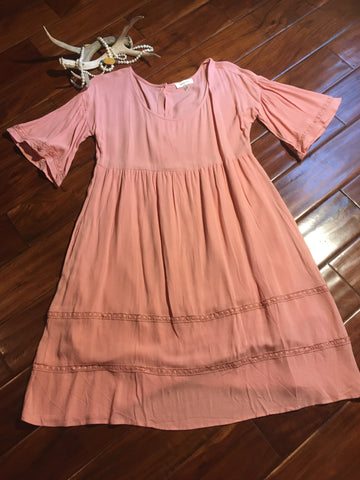Prairie Blush Button Dress
