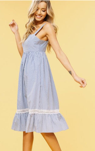 Blue striped Summer dress