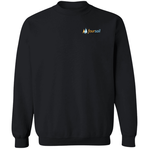Image of Four Sail Crewneck Pullover Sweatshirt