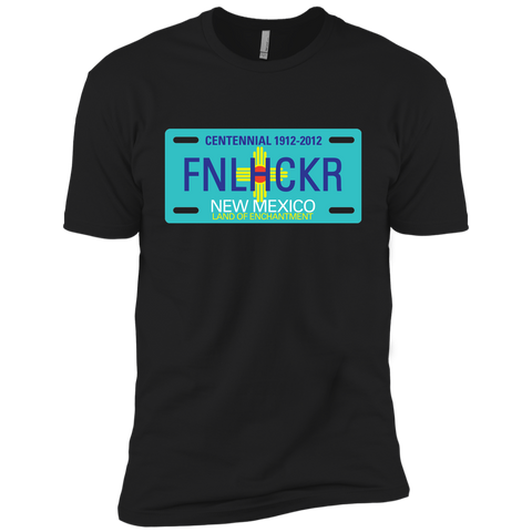 Image of New Mexico FNLHCKER license plate Premium Short Sleeve T-Shirt
