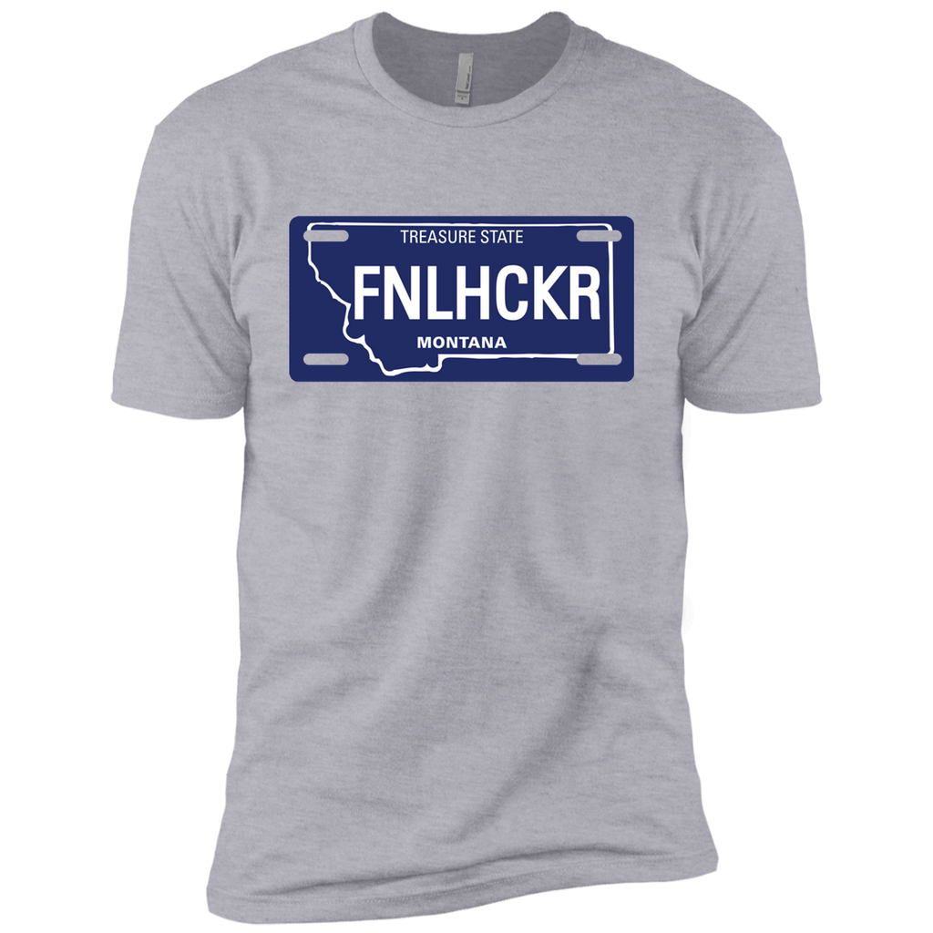 Montana FNLHCKER license plate Premium Short Sleeve T-Shirt