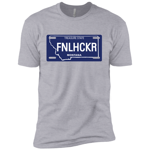 Image of Montana FNLHCKER license plate Premium Short Sleeve T-Shirt