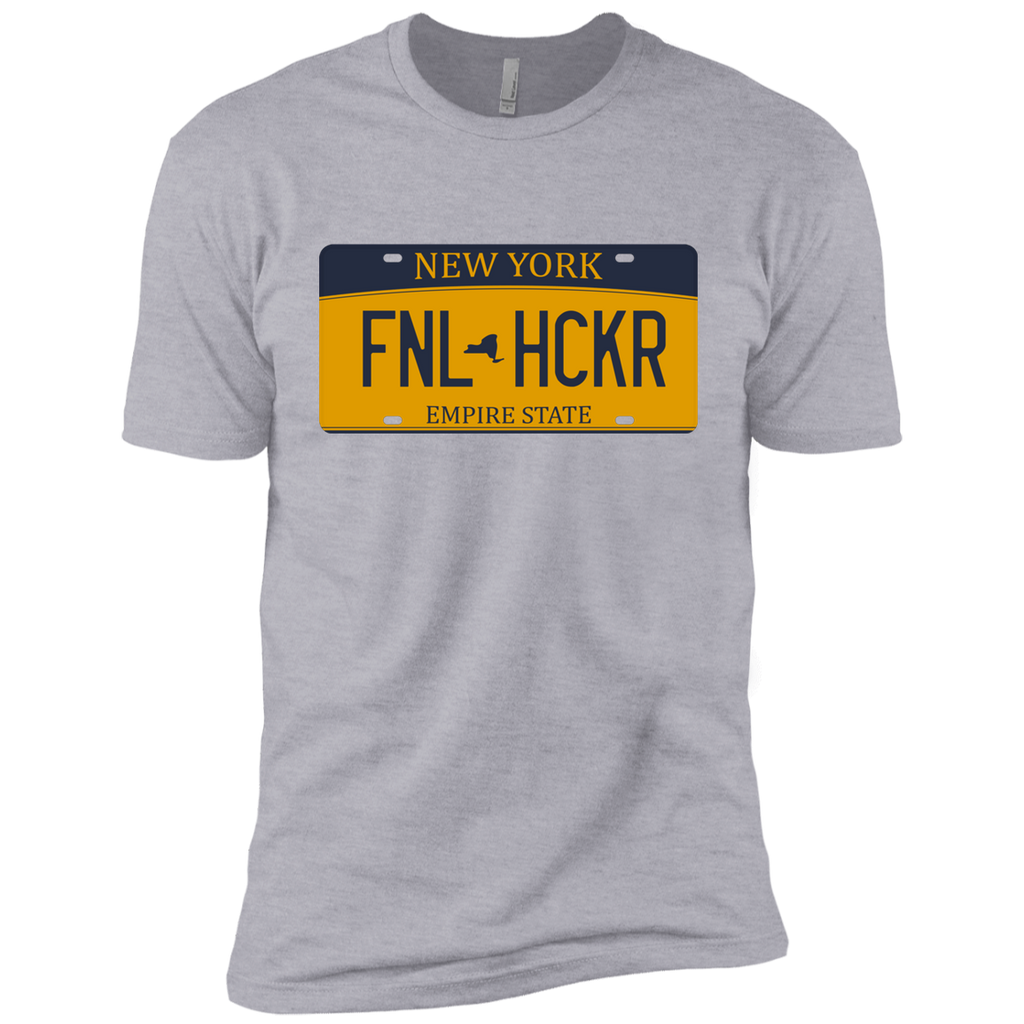 New York FNLHCKER license plate Premium Short Sleeve T-Shirt