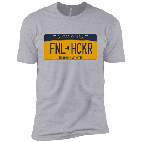 Image of New York FNLHCKER license plate Premium Short Sleeve T-Shirt