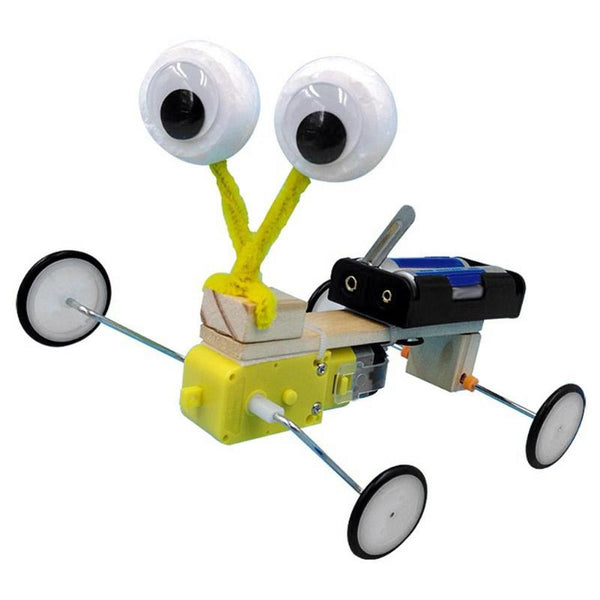 DIY Wooden Remote Control Electric Robot Reptile Model Children Science Experiment Toys Cool Invention Kids Toys