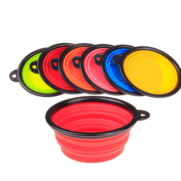Direct selling folding silicone pet dog bowl, convenient silicone pet bowl, pet plate, pet bowl