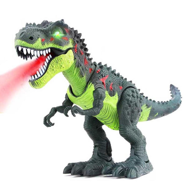Kids Walking Electric Dinosaur Toys with Music Light Spray Large Size Walk Sounds Animals Model Toys for Children Recognization