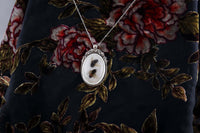 Honey Bee Floral Cameo Necklace