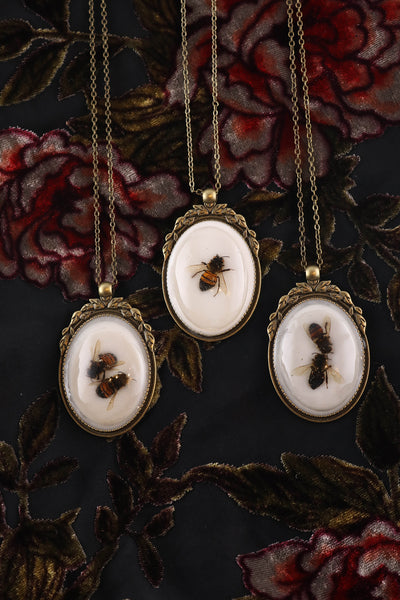 Honey Bee Cameo Necklace