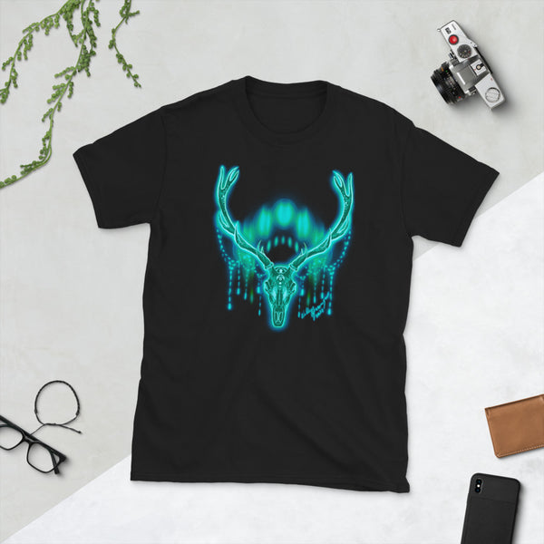 Moon Deer Teal Unisex T-Shirt