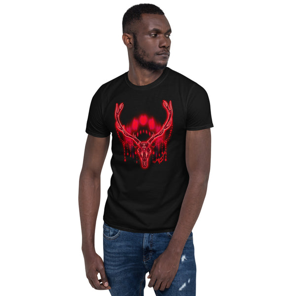Moon Deer Red Unisex T-Shirt